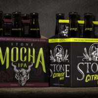 Stone Mocha IPA and Citrusy Wit packages