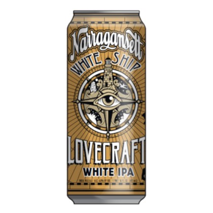 Narragansett beer 39 s lovecraft white ship white ipa makes for Rhode island craft beer