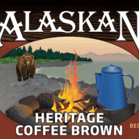 Alaskan Heritage Coffee Brown label