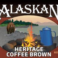 Alaskan Heritage Coffee Brown label