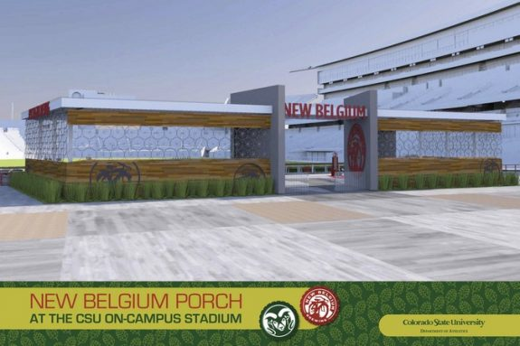 New Belgium Porch at CSU on-campus stadium