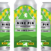 Nine Pin Cider Ommegang The Lion's Share cider cans BeerPulse