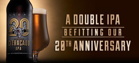 Stone Citracado 20th Anniversary Double IPA banner BeerPulse