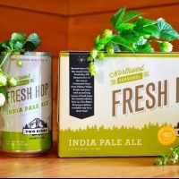 Two Beers Brewing Fresh Hop IPA cans BeerPulse