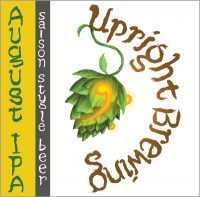 upright august ipa label