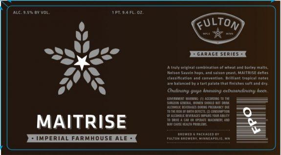 Fulton Beer Maitrise label