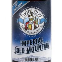 Highland Imperial Cold Mountain Winter Ale 22oz bottle BeerPulse