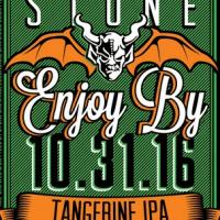Stone Enjoy By 10-31-16 Tangerine IPA label