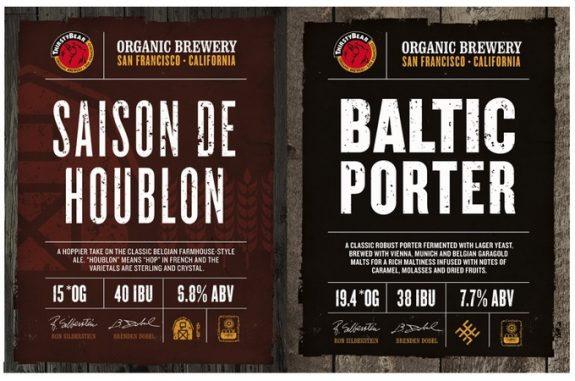 ThirstyBear Organic Saison De Houblon and Baltic Porter label