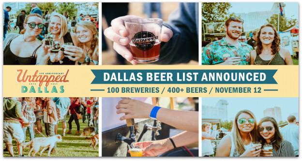 Untapped Festival Dallas beer list (400+ deep) announced ...
