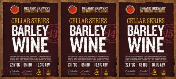 ThirstyBear Cellar Series Barley Wine labels BeerPulse
