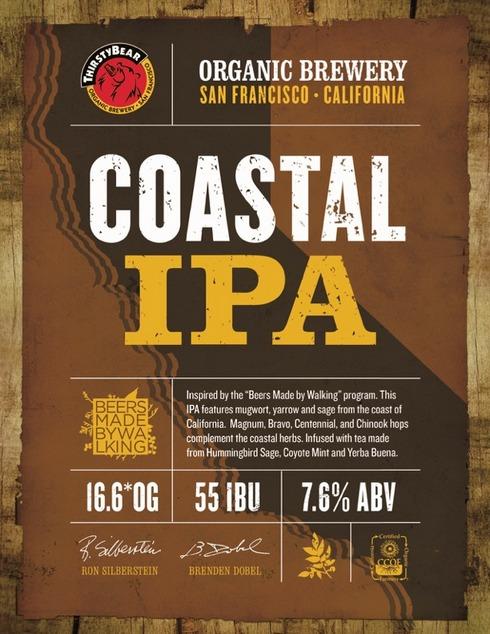 ThirstyBear Coastal IPA label BeerPulse.
