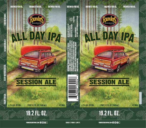 Founders All Day IPA label BeerPulse