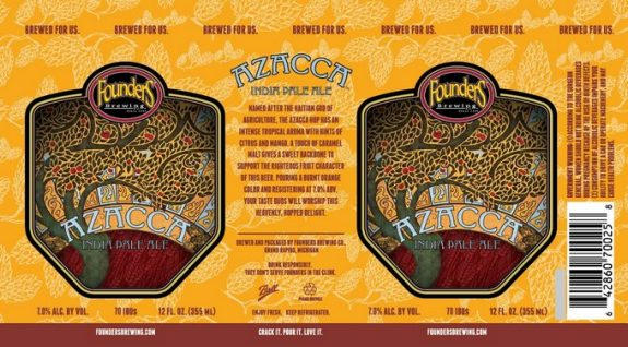 Founders Azacca IPA cans BeerPulse