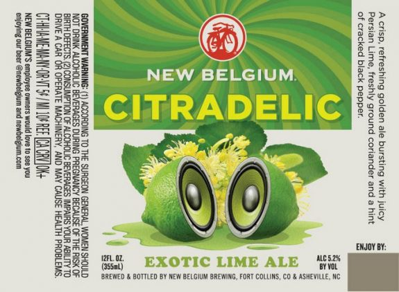 New Belgium Citradelic Exotic Lime Ale label BeerPulse.jpg