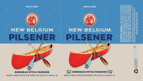New Belgium Pilsener label BeerPulse