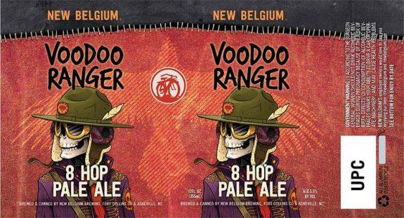 New Belgium Voodoo Ranger 8 Hop Pale Ale label BeerPulse