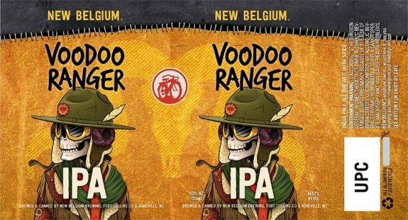 New Belgium Voodoo Ranger IPA label BeerPulse