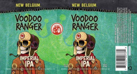 New Belgium Voodoo Ranger Imperial IPA label BeerPulse
