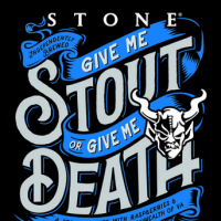 Stone Give Me Stout or Give Me Death label BeerPulse