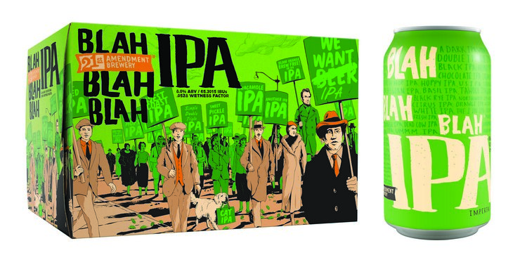 21st Amendment Blah Blah Blah IPA now available in six ...