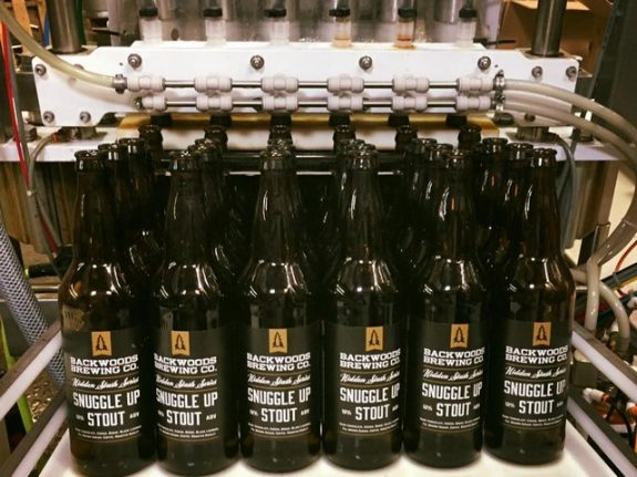 Backwoods Snuggle Up Stout Bottling Run BeerPulse