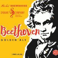Beethoven Golden Ale No-Li Spokane Brewery label