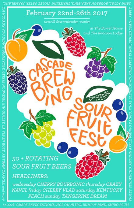 Cascade Brewing Sour Fruit Fest 2017 poster BeerPulse
