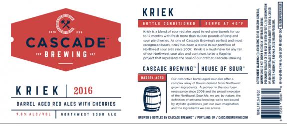 Cascade Kriek label BeerPulse