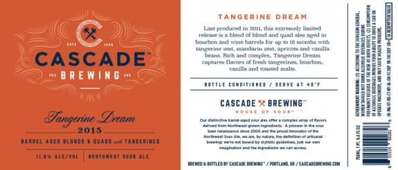 Cascade Tangerine Dream label BeerPulse II