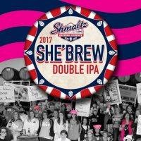 Shmaltz She'Brew Double IPA 2017 label BeerPulse