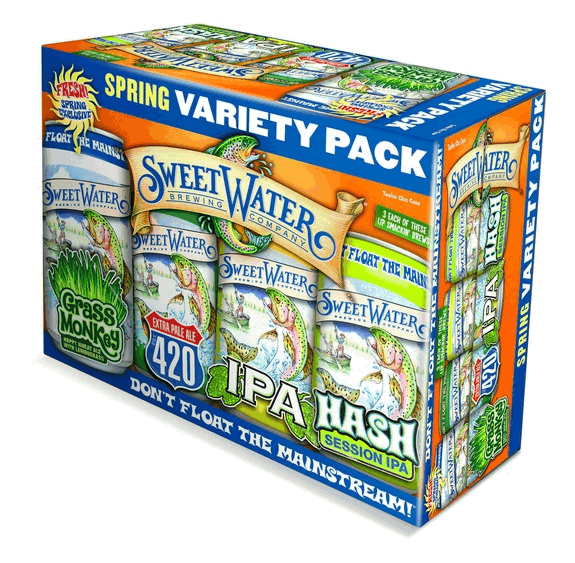 SweetWater Spring Variety Pack cans pack BeerPulse