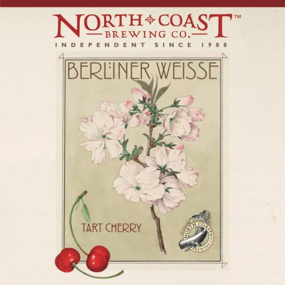North Coast Tart Cherry Berliner Weisse label BeerPulse