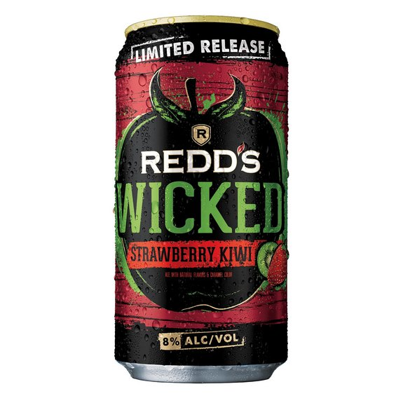 Redds Wicked Strawberry Kiwi can BeerPulse
