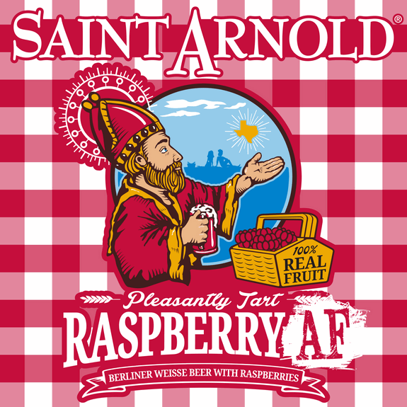 Saint Arnold Raspberry AF label BeerPulse