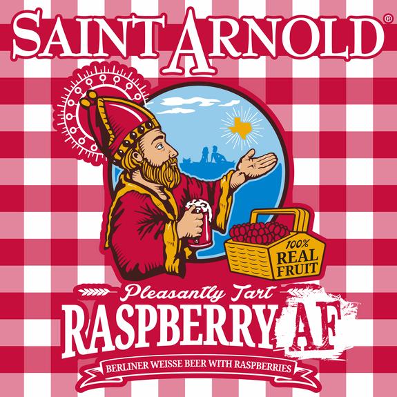 Saint Arnold Raspberry AF label BeerPulse