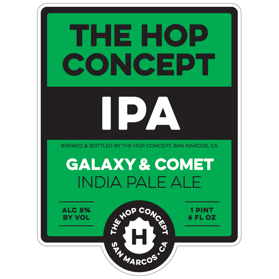 The Hop Concept Galaxy and Comet IPA label BeerPulse