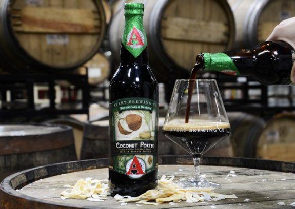 Avery Coconut Porter bottle pour BeerPulse