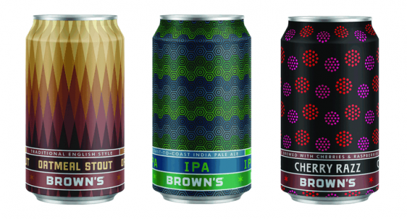 Brown's Brewing 3 core cans