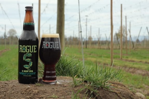 Rogue 5 Hop IPA bottle BeerPulse