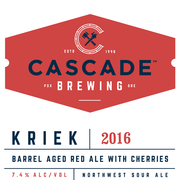 Cascade Kriek 2016 label BeerPulse