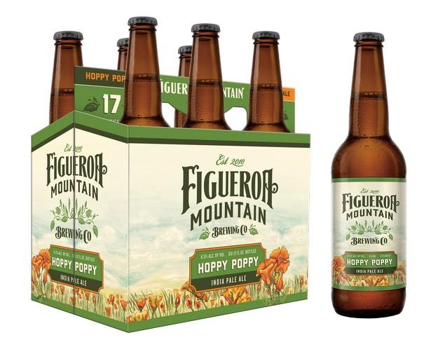 Figueroa Mountain Hoppy Poppy IPA 6pk bottle BeerPulse