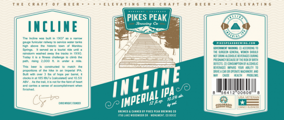Pikes Peak Incline Imperial IPA 2017 just released