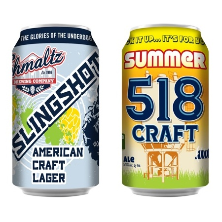 Shmaltz cans debut for ACBW with Slingshot American Craft Lager, 518 Summer Ale