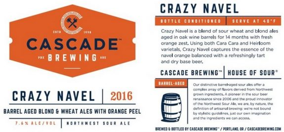 Cascade Crazy Navel 2016 label BeerPulse