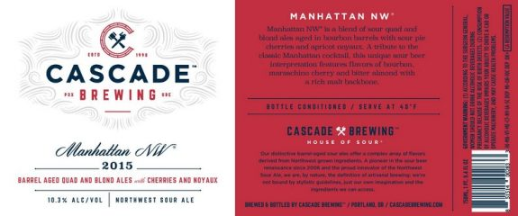 Cascade Manhattan 2015 Label BeerPulse