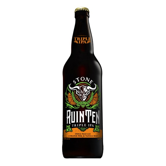 Stone RuinTen Triple IPA Orange Vanilla Bean bottle BeerPulse