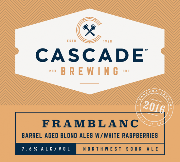 Cascade Framblanc 2016 label BeerPulse