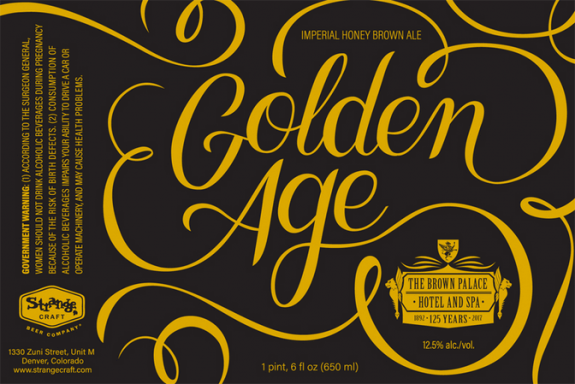 Strange Beer Co Brown Palace Golden Age label BeerPulse