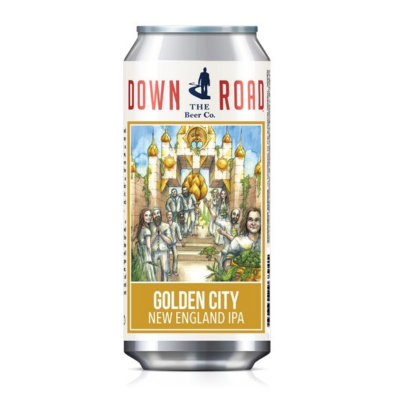 Down The Road Golden City and Dreamtown, both New England IPAs, releasing this month